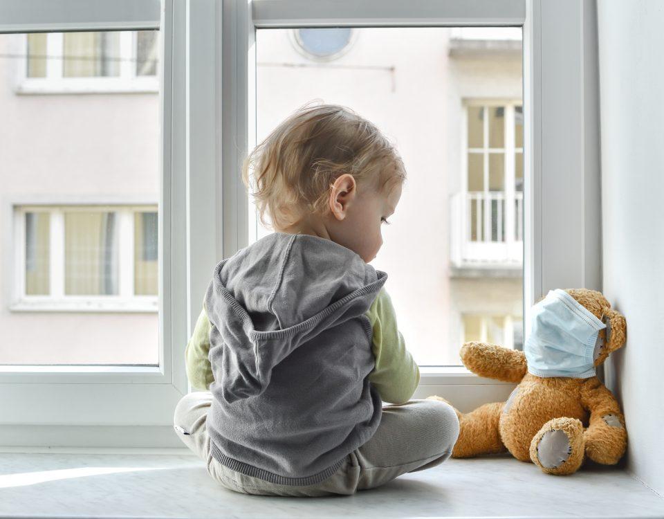 Criança em quarentena